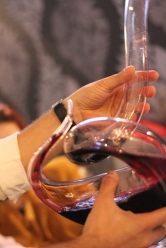 wine in decanter
