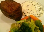 antricot cu legume si sos de piper