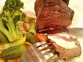 antricot de vitel cu legume