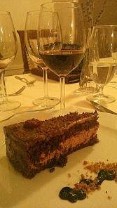 tarta ciocolata fructe