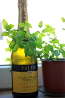 sticla de vin spumant