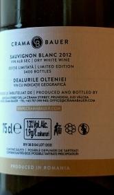 Bauer Sauvignon Blanc 2012