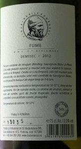 vin alb demisec Budureasca