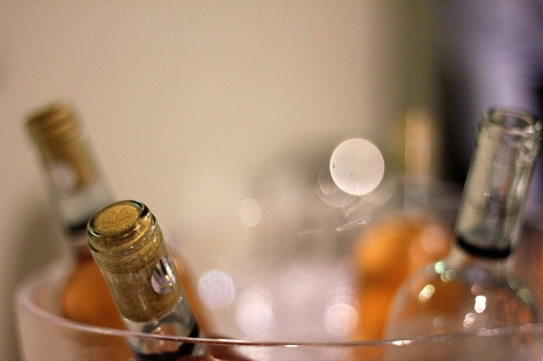 sticle de vin in frapiera
