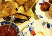 tortillas, burrata, salsa si rosii uscate