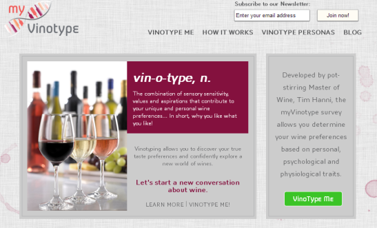 myVinotype   Discover wines you love
