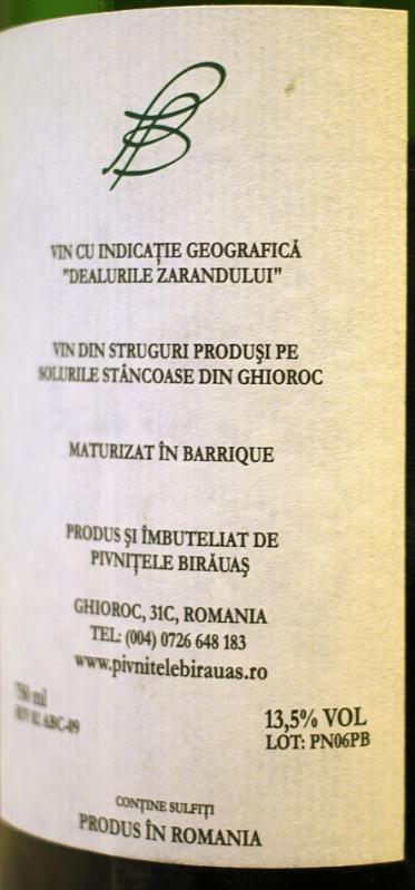 Pinot Noir Birauas 2006