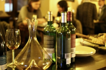 sticle goale si decantor