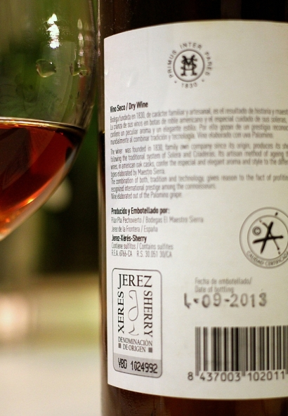 sherry label