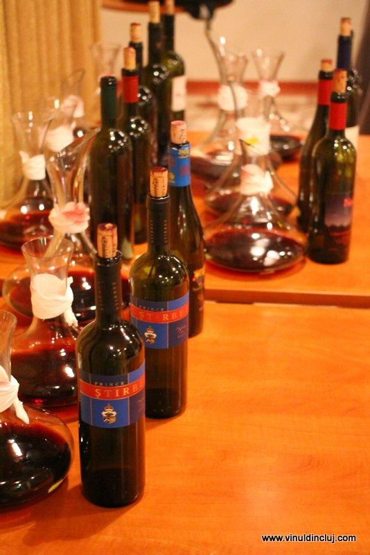 aliniere de vinuri de colectie