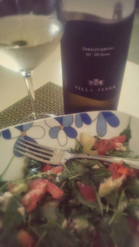 Villa Vinea Gewurztraminer si salata
