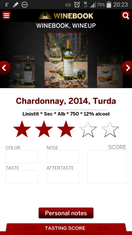 Winebook rating si impresii