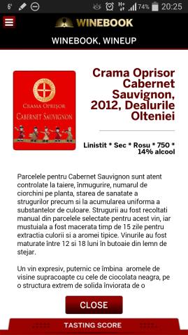 Winebook descriere vin