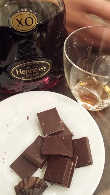Hennesy si ciocolata