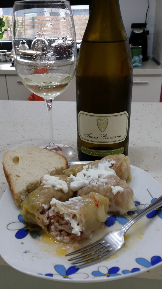 sarmale si Chardonnay