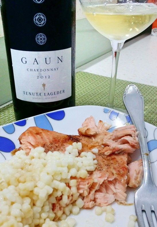 salmon with Italian Chardonnay